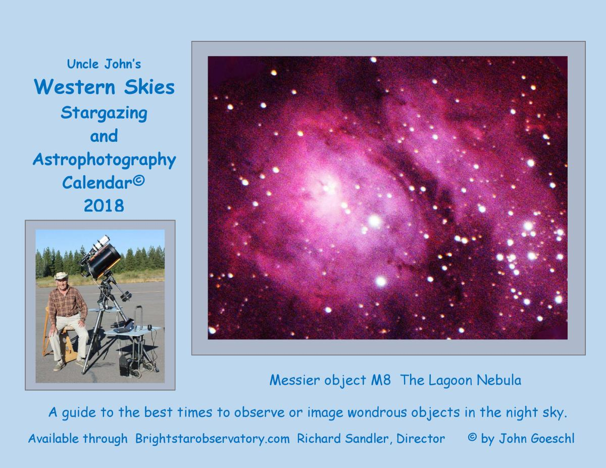 2018 Calendar guiding the best time to observe the wondrous objects in the nightsky